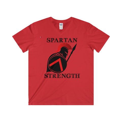 Spartan Strength Black - Softstyle® Adult V-Neck T-Shirt