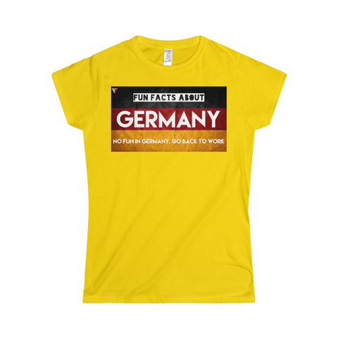 Germany Fun Facts Softstyle Women's T-Shirt