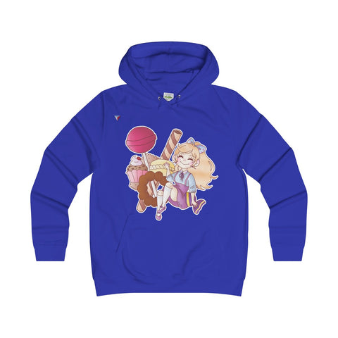Cute Girl With Sweets Girlie Hoodie