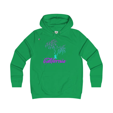 California Palm Tree Neon - Girlie College Hoodie