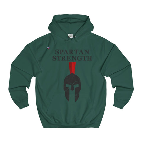 Spartan Strength Black Gym Hoodie