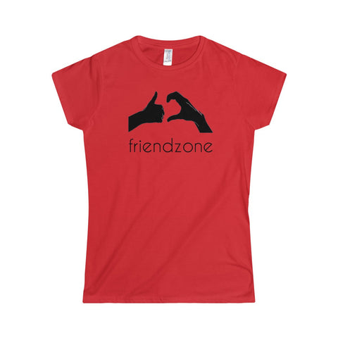 Friendzone Black Softstyle Women's T-Shirt
