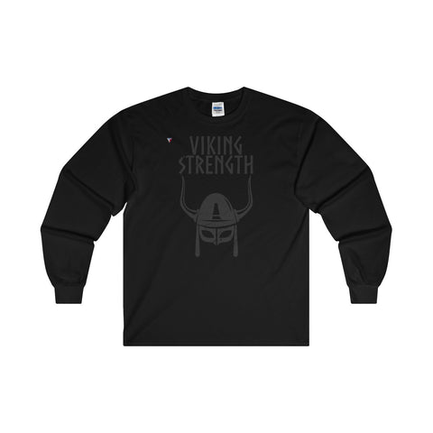 Viking Strength Black Gym Ultra Cotton Long Sleeve T-Shirt