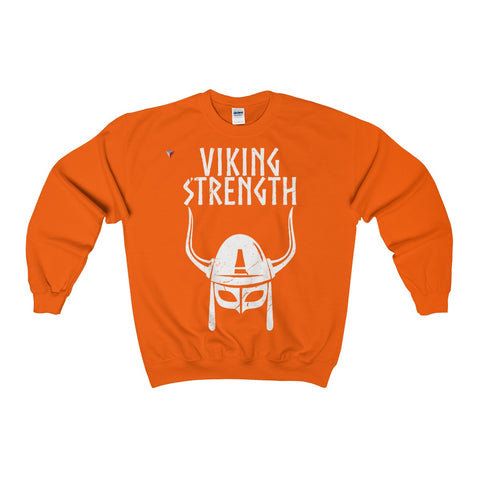 Viking Strength White Gym Heavy Blend™ Adult Crewneck Sweatshirt