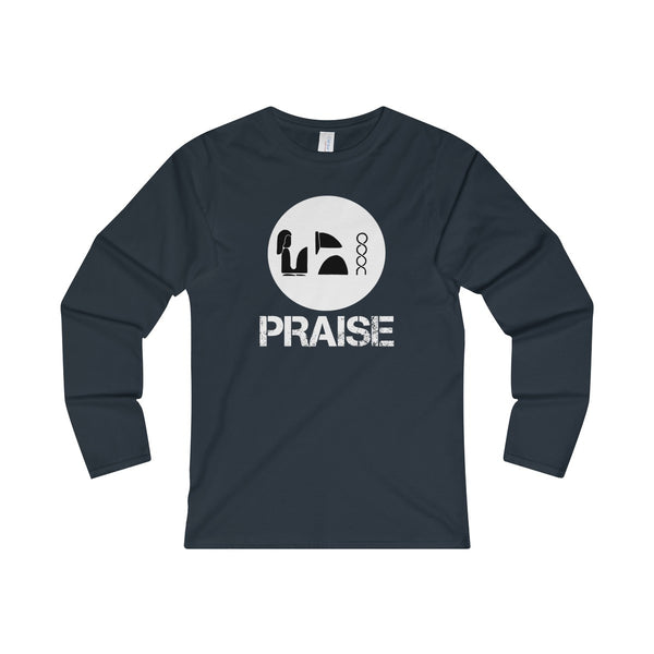 Praise Kek White Ladies' Long Sleeve T-Shirt