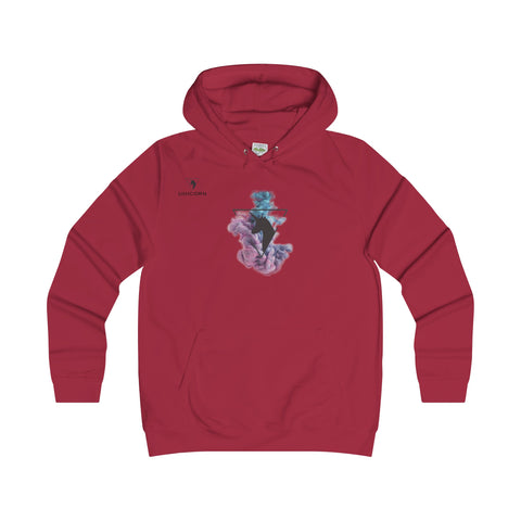 The Unicorn - Girlie College Hoodie