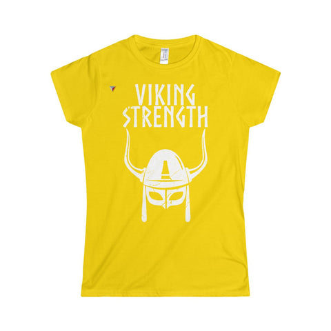 Viking Strength White Gym Softstyle Women's T-Shirt