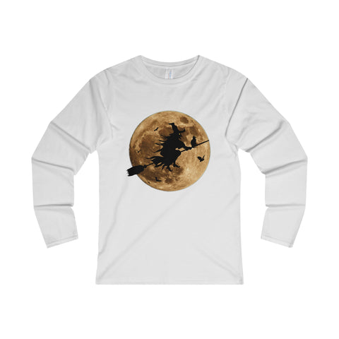 Halloween Moon Witch Ladies' Long Sleeve T-Shirt