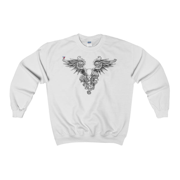 Winged Skull Heavy Blend™ Adult Crewneck Sweatshirt