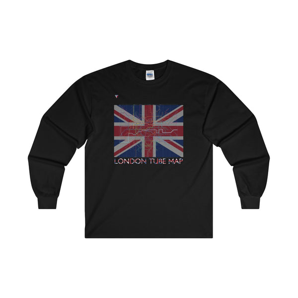 London Tube Map Ultra Cotton Long Sleeve T-Shirt