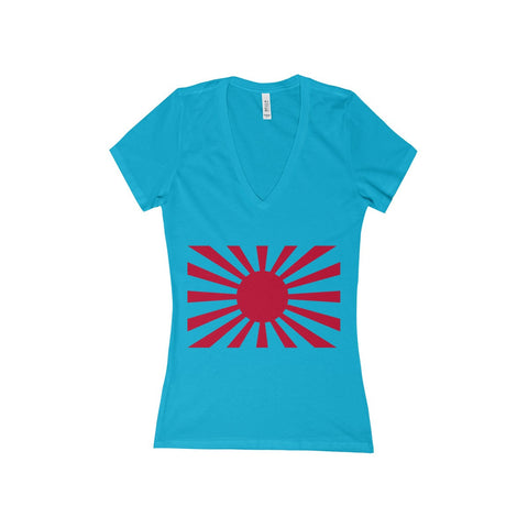 Rising Sun Women's Deep V-Neck Jersey Tee