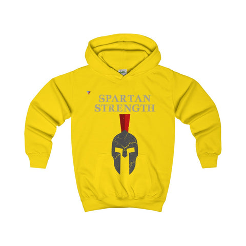 Spartan Strength Grey Gym Kids Hoodie