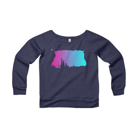 Neon Skyline Women's Sponge Fleece Wide Neck Sweatshirt