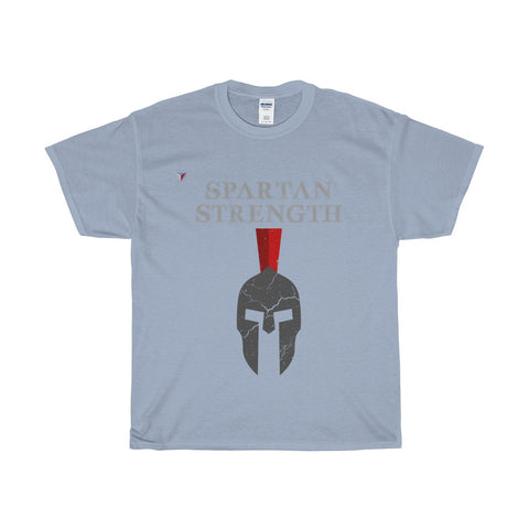 Spartan Strength Grey Gym Heavy Cotton T-Shirt