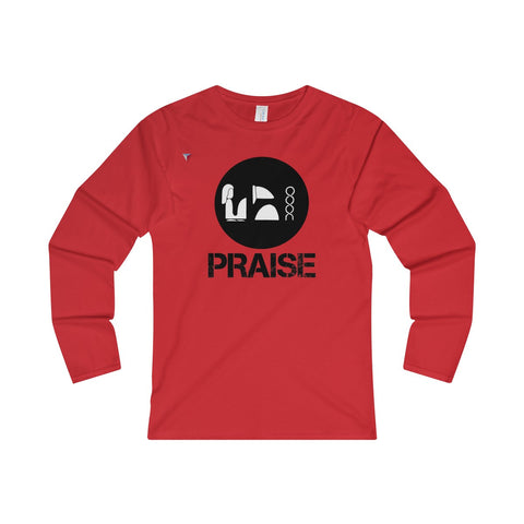 Praise Kek Black Ladies' Long Sleeve T-Shirt