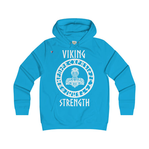 Viking White Girlie College Hoodie
