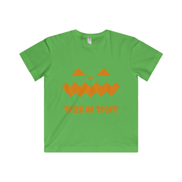Halloween Pumpkin Orange Youth Fine Jersey Tee