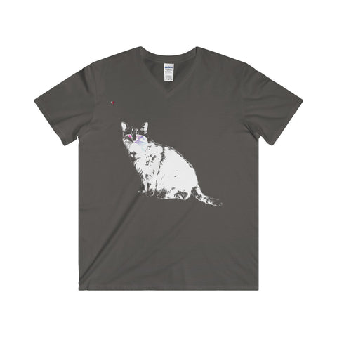 White Cat Softstyle® Adult V-Neck T-Shirt