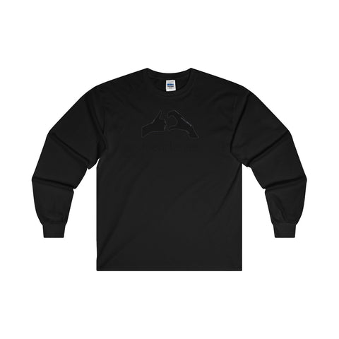 Friendzone Black Ultra Cotton Long Sleeve T-Shirt