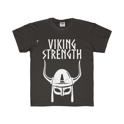 Viking Strength White Gym Youth Regular Fit Tee