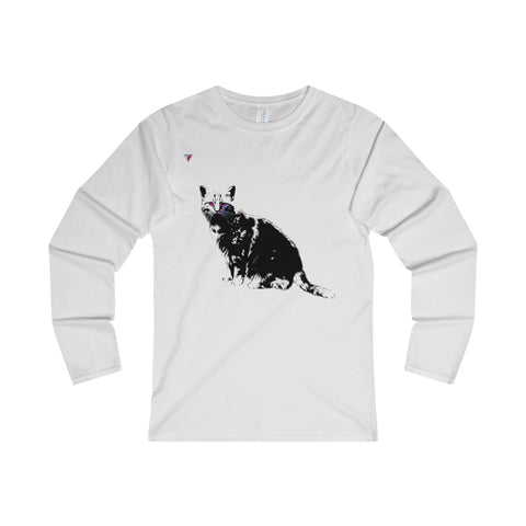Black Cat Ladies' Long Sleeve T-Shirt