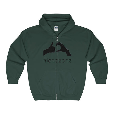 Friendzone Black Full Zip Hooded Sweatshirt