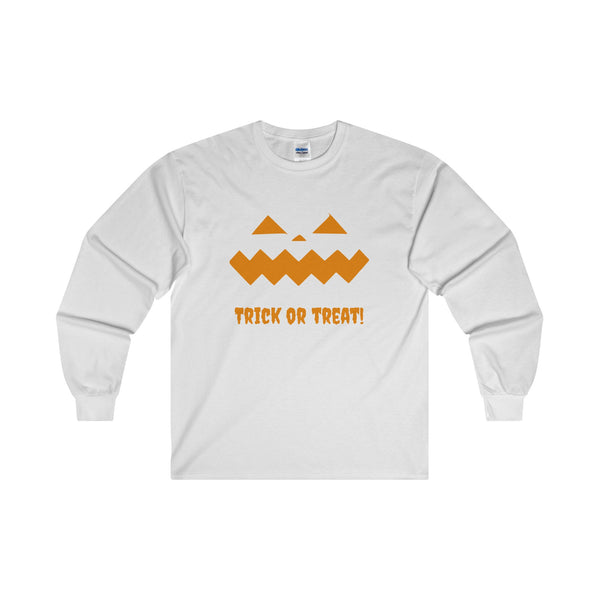 Halloween Pumpkin Orange Ultra Cotton Long Sleeve T-Shirt