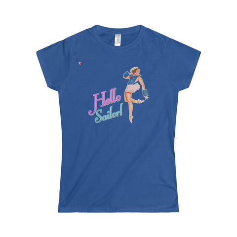 Hello Sailor! Softstyle Women's T-Shirt