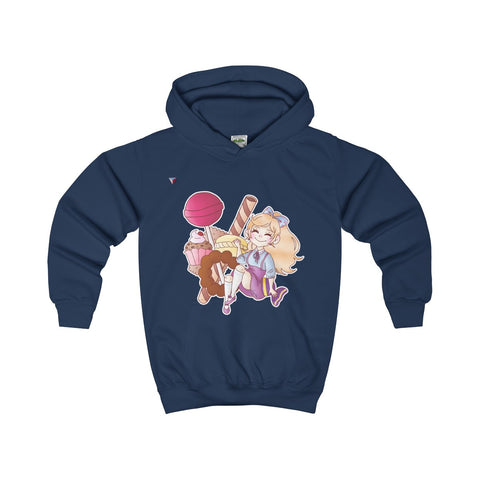 Cute Girl With Sweets Kids Hoodie