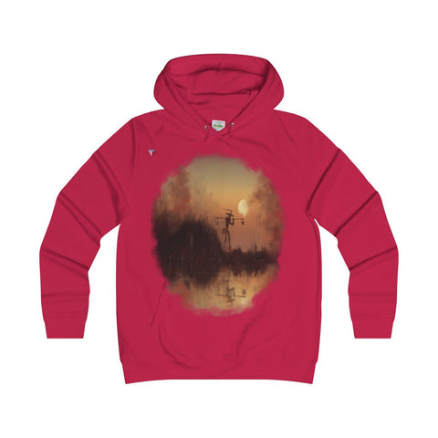 Japanese Sundown Girlie Hoodie