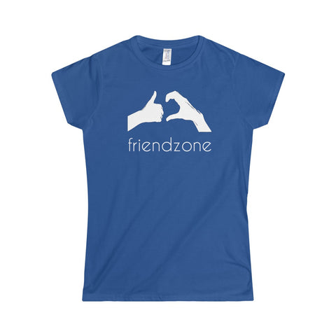Friendzone White Softstyle Women's T-Shirt