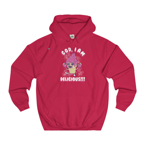 God I'm Delicious Ice-Cream - College Hoodie