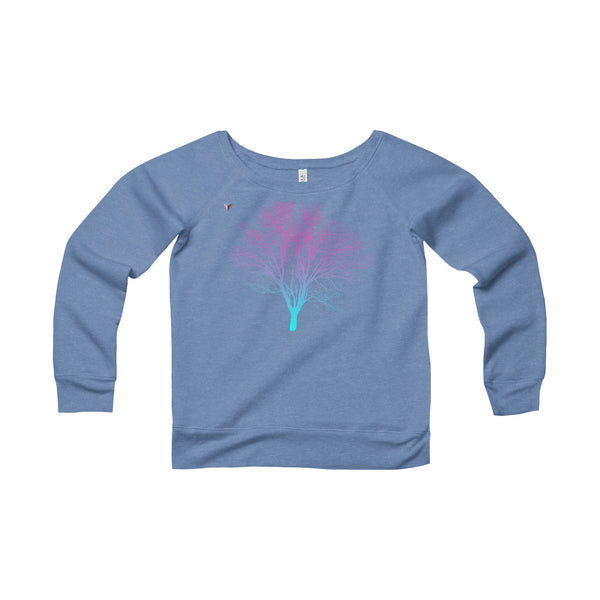 Neon Tree - Women's Sponge Fleece Wide Neck Sweatshirt