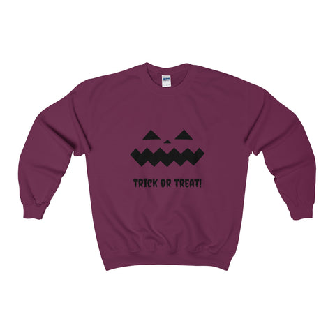 Halloween Pumpkin Black Heavy Blend™ Adult Crewneck Sweatshirt