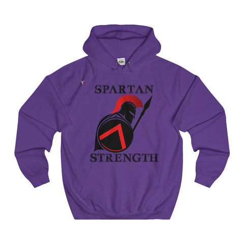 Spartan Strength Black - College Hoodie