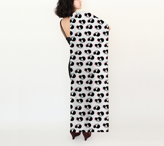 "Cool Cats Long Scarf (16"" x 72"")"