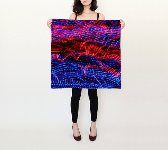 "Neon Lights Square Scarf (26"" x 26"")"