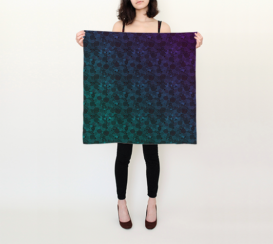 "Neon Whirlwind Square Scarf (26"" x 26"")"