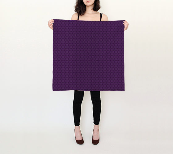 "Violet Stardust Square Scarf (26"" x 26"")"