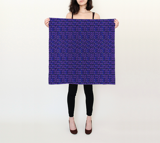 "Blue Tile Pattern Square Scarf (26"" x 26"")"