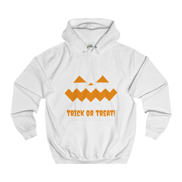 Halloween Pumpkin Orange College Hoodie