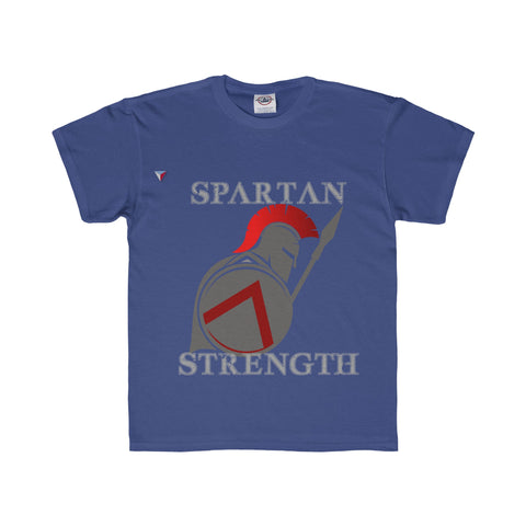 Spartan Strength Grey - Youth Regular Fit Tee