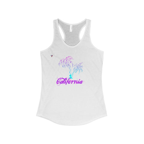 California Palm Tree Neon - The Ideal Racerback Tank