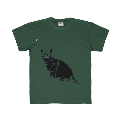 Black Cat Youth Regular Fit Tee
