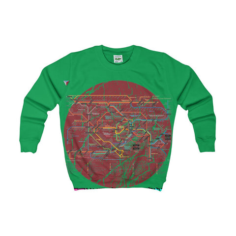 Japanese Metro Map Kids Sweatshirt