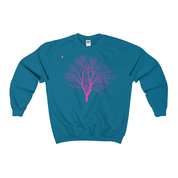 Pink Tree Heavy Blend™ Adult Crewneck Sweatshirt