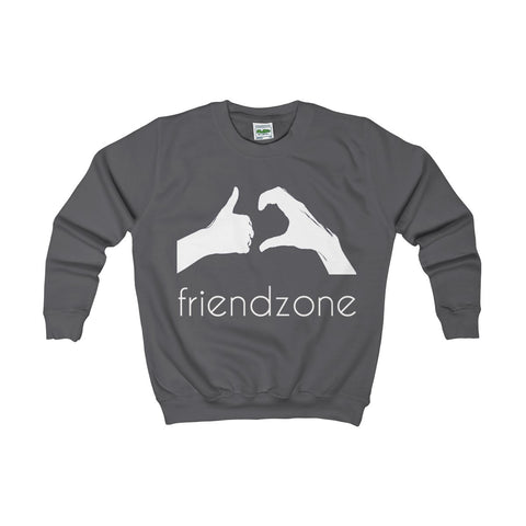 Friendzone White Kids AWDis Sweat