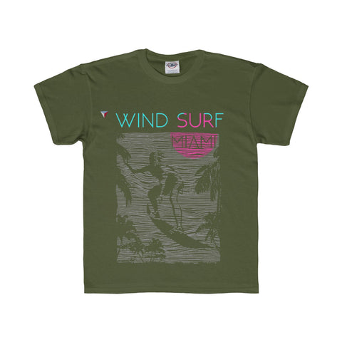 Wind Surf Miami Youth Regular Fit Tee