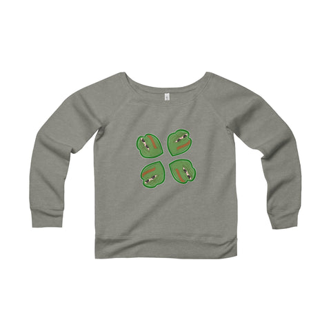 Pepe - Women's Sponge Fleece Wide Neck Sweatshirt