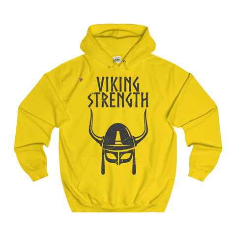 Viking Strength Black - Gym College Hoodie